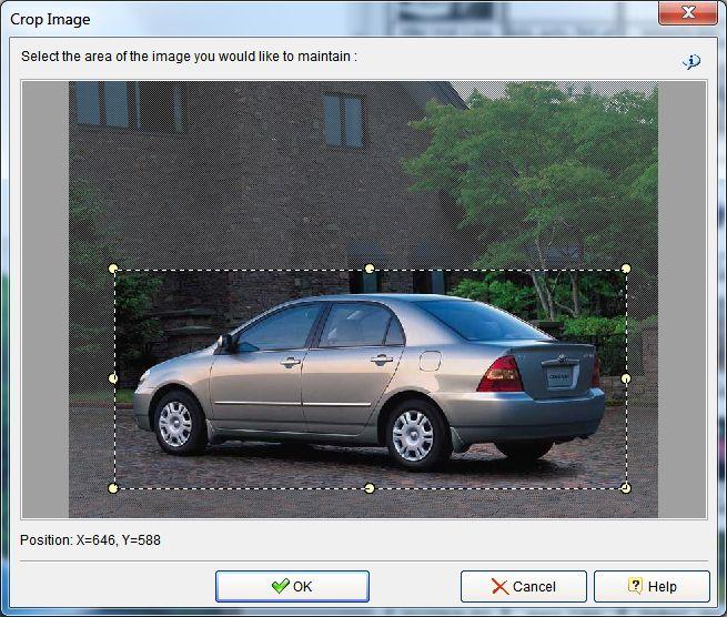 photo slide show crop image