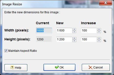 photo slide show image resize