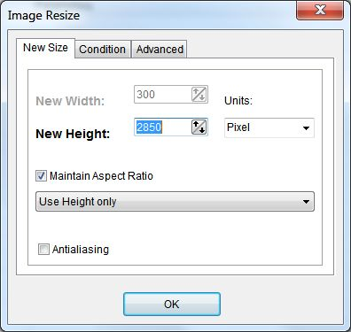 resize images