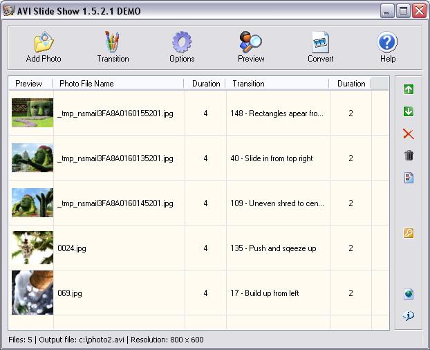 Windows 7 AVI Slide Show 1.7.17.17 full