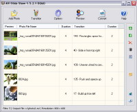 AVI Slide Show is an easy-to-use tool to convert digital photos to video and create stunning slide shows with transition effects.